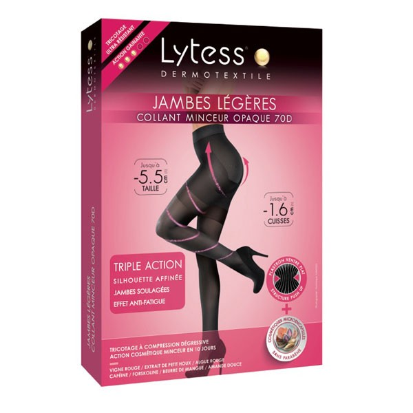 Get Lytess Slimming Tights Slim Legs Black T4 | Sanareva
