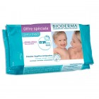 Bioderma ABCDerm dermatological wipes by 60 Pack of 2 PROMO