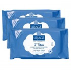 URIAGE BABY 1ST WATER WIPES BATCH OF 3 X 25