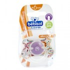 Bebisol pacifier Reversible Silicone African + 6 months (ref 2)