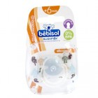 Bebisol pacifier Reversible Silicone Robot + 6 months (ref 2)